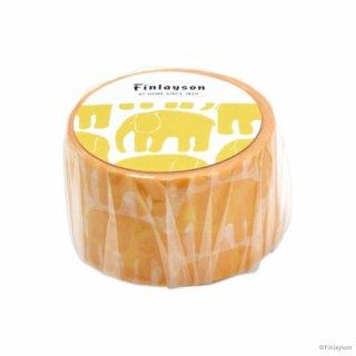 FINLAYSON マスキングテープ エレファンティ イエロー (MT-FL3)