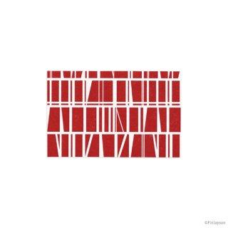 【限定数終了】FINLAYSON ミニカード コロナ レッド (カ-FL101R)