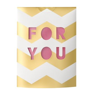 MESSAGE FLOWER VASE<br>FOR YOU PINK