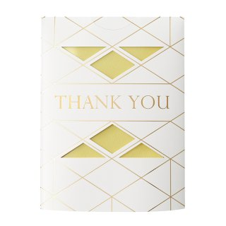 MESSAGE FLOWER VASE<br>THANK YOU YELLOW (CF20Y)