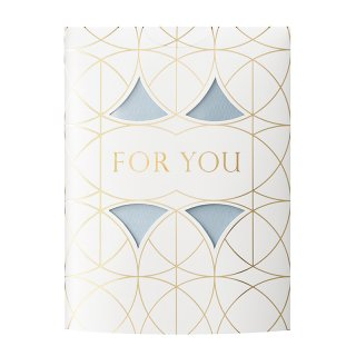MESSAGE FLOWER VASE<br>FOR YOU BLUE (CF20B)