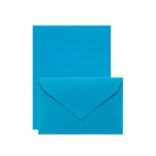 【11月9日発売】PLAIN ミニレターセット ブルー (レ-P20B)