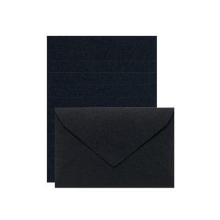 【11月9日発売】PLAIN ミニレターセット ブラック (レ-P20D)