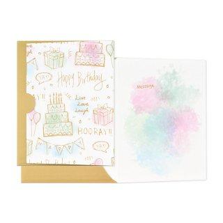 【2月末販売終了】ギフトカード封筒 スイサイ バースデー (GF-C10HB)