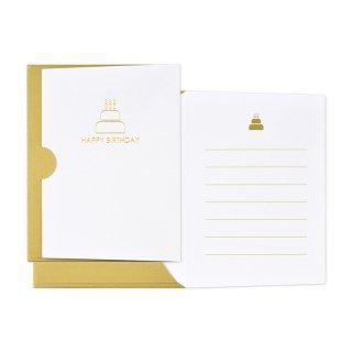 【2月末販売終了】ギフトカード封筒 ゴールド バースデー (GF-C20HB)