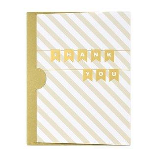 【2月末販売終了】ギフトカード封筒 ゴールド サンキュー (GF-C20T)