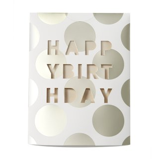 MESSAGE FLOWER VASE<br>HAPPY BIRTHDAY BE (CF10BE)