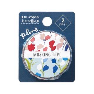 Plune. マスキングテープ Pink Flora (MT-PL9)