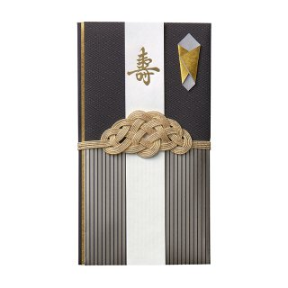 WASOU(和装)金封 黒紋 (キ18D)