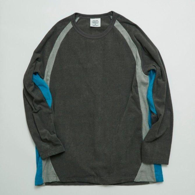 ラグランスリーブロングスリーブT−シャツ(同素材色切り替え)