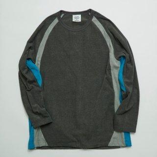 パンツ ラグランスリーブロングスリーブT−シャツ(同素材色切り替え)