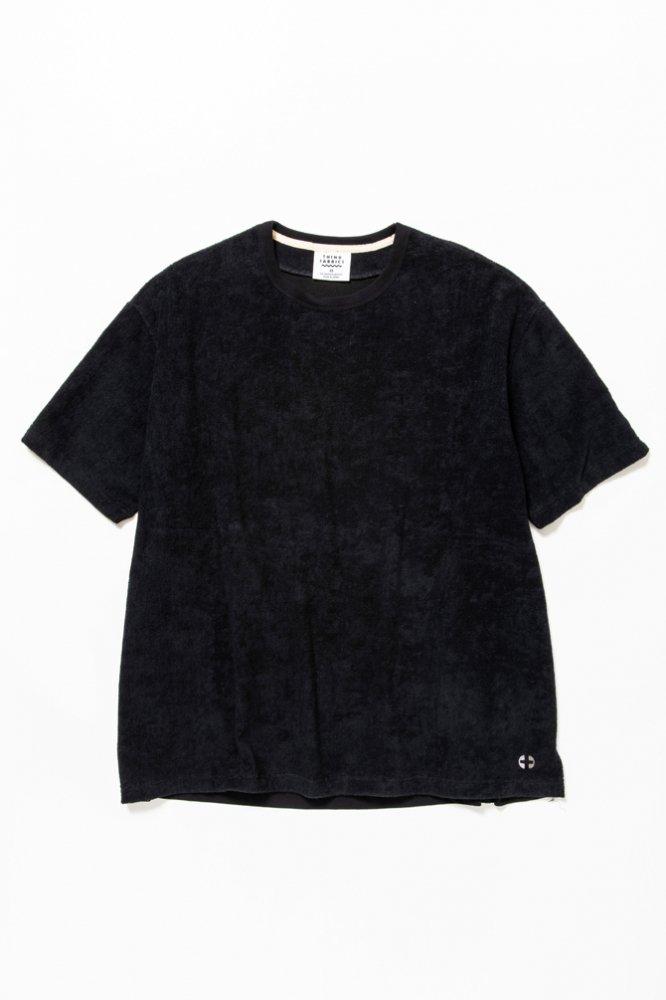 5素材切り替えTシャツ ショートパイル