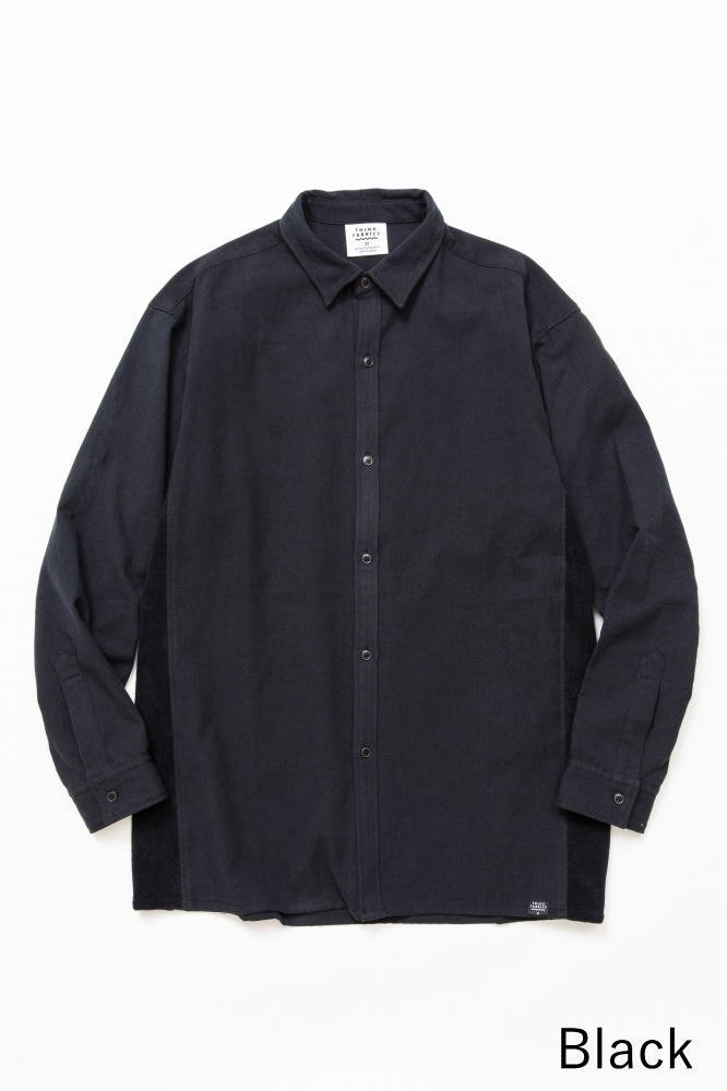 TF 切り替えシャツ ブロード織り風タオルクロス