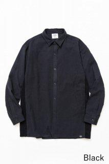 トップス TF 切り替えシャツ ブロード織り風タオルクロス