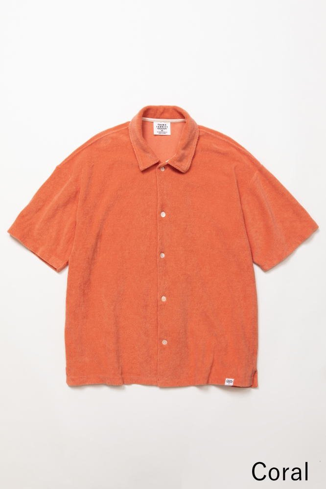 TF オープンカラーシャツ カットソー素材