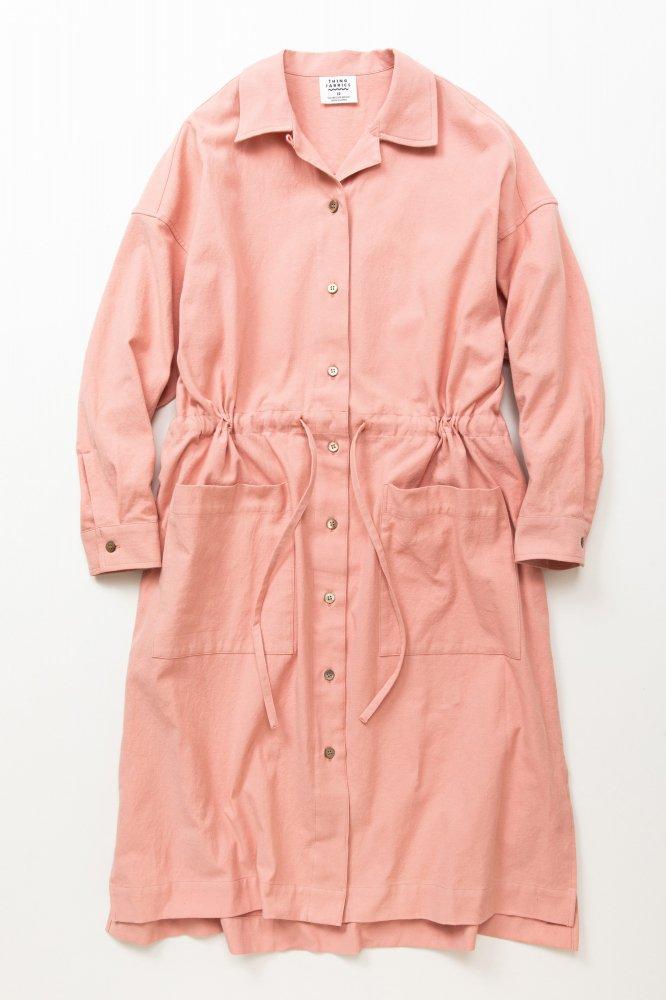 TF ロングシャツドレス ブロード織り風タオルクロス【画像3】