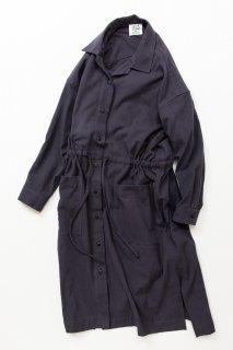 ウェア TF ロングシャツドレス ブロード織り風タオルクロス