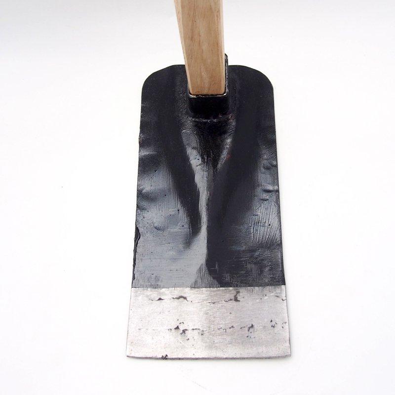 鉄鼻緒鍬(角)【送料無料】