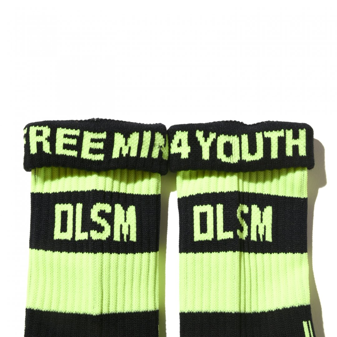DLSM LINE SOCKS (NEON LINE COLOR)