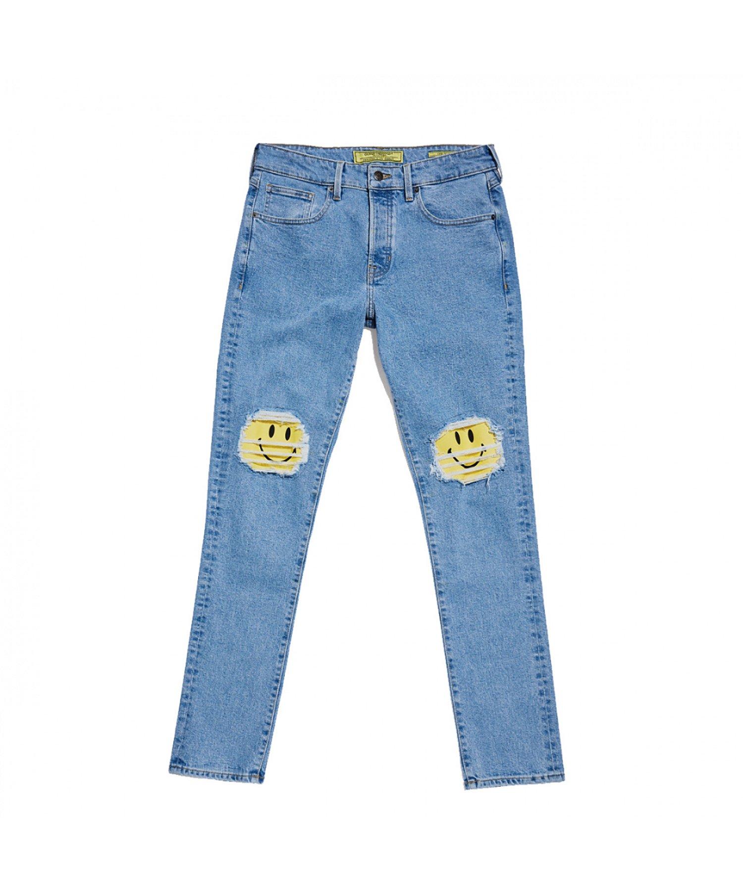 GUESS × CHINATOWN MARKET × Smiley Indigo Slim Jeans