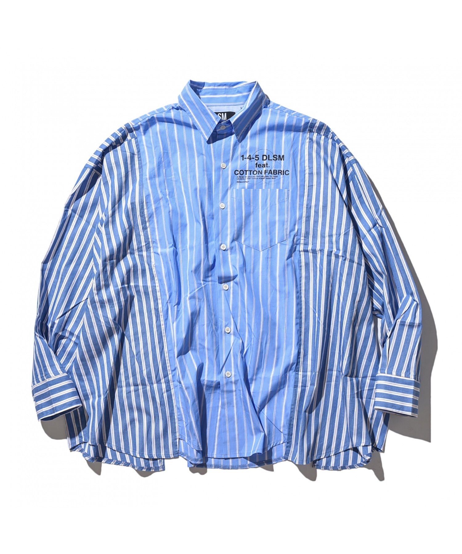MIX STRIPE OVER SILHOUETTE SHIRT