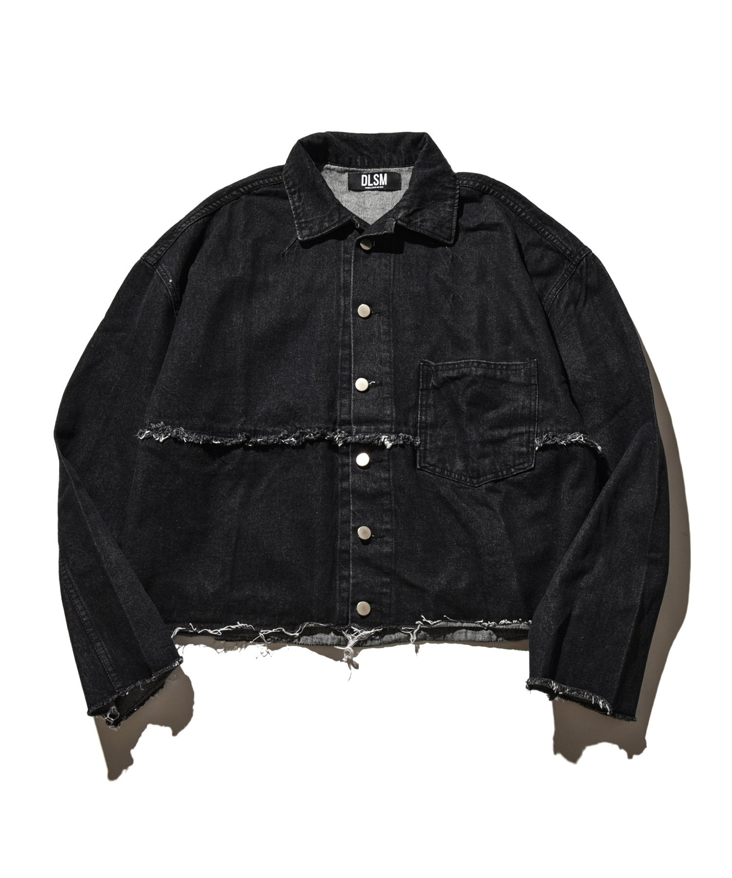 DUALISM REFLECT LOGO SHORT DENIM JACKET