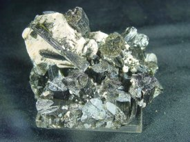 tourmaline,:Feldspar :トルマリン 電気石,長石(マダガスカル産)