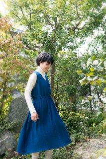 藍染カシュクールワンピース (受注製作)