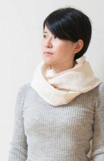 Organic Cotton 3重ガーゼのスヌード (生成り色)