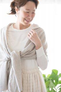 Organic Cotton ヤク混薄手ストール(ヤクビエラ)
