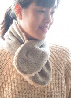 Organic Cotton Fur ふわふわネックウォーマー(ヤクグレー)