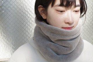 Organic Cotton Fur ヤク混グレージュ ネックウォーマー【ビッグサイズ】