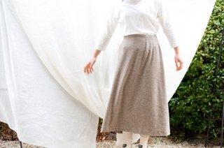 Organic Cotton ヤクベロア ロングギャザースカート