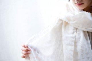 Organic Cotton シャドーチェック大判ストール