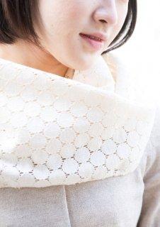 Organic Cotton サークルラッセル レースストール 【33�幅】