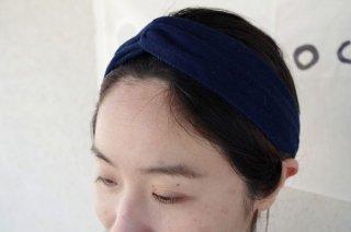 藍染クロスターバン【濃い藍色】