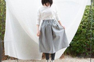 Organic Cotton オックスフォード生地 タックスカート