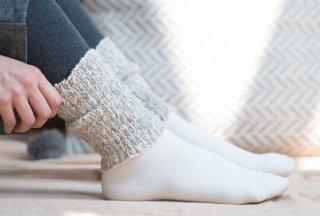 ガラ紡糸アーム&レッグウォーマー 杢グレー【Organic Cotton】