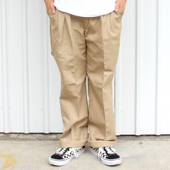 RED KAP / PT32 PLEATED INDUSTRIAL WORK PANTS - KHAKI レッドキャップ ワークパンツ カーキ