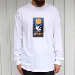 夕陽のTシャツオリジナル WOLF MOON NIGHT HIKE L/S Tee - WHITE ロンT ホワイト
