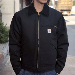 CARHARTT / DUCK DETROIT JACKET - BLACK カーハート ダックデトロイトジャケット ブラック