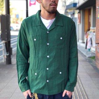 夕陽のTシャツ SUNSET / ORIGINAL CUBA SHIRT - GREEN オリジナルキューバシャツ グリーン