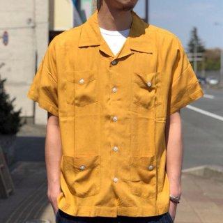 夕陽のTシャツ SUNSET / ORIGINAL CUBA SHIRT - MUSTARD オリジナルキューバシャツ マスタード