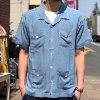 夕陽のTシャツ SUNSET / ORIGINAL CUBA SHIRT - BLUE オリジナルキューバシャツ ブルー
