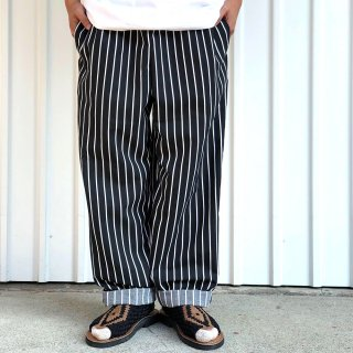 <img class='new_mark_img1' src='https://img.shop-pro.jp/img/new/icons5.gif' style='border:none;display:inline;margin:0px;padding:0px;width:auto;' />RED KAP / PS54 SUN POLY BAGGY CHEF PANTS - CHALK STRIPE