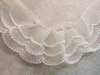 LR03001 ドット柄綿刺繍チュール 5cm巾