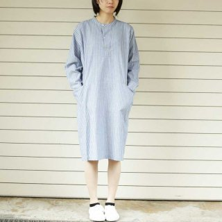 sugatakatachi(スガタカタチ) cotton stripe henley one-piece