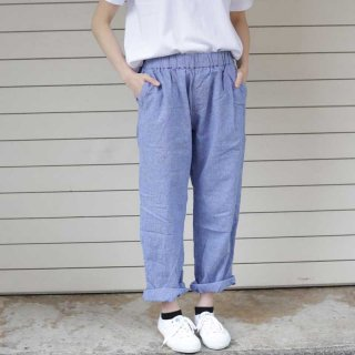 sugatakatachi(スガタカタチ) linen/cotton chambray easy pants