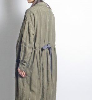 linen st shirt coat (リネンストライプ シャツコート)