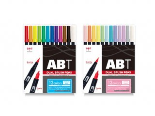 TOMBOW(トンボ鉛筆)デュアルブラッシュペンABT 12色セット【メール便無料】